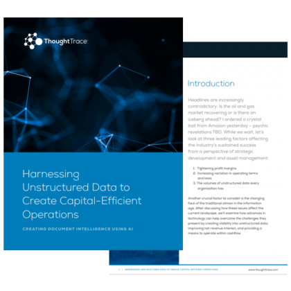 Harnessing Unstructured Data to Create Capital-Efficient Operations